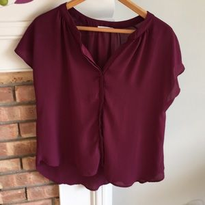 Lush size small berry colored blouse